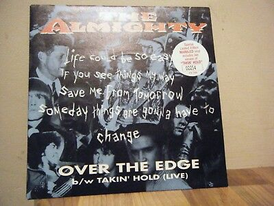 PICTURE SLEEVE.rock.THE ALMIGHTY.1993.OVER THE EDGE.ltd edit.MARBLED.numbered.