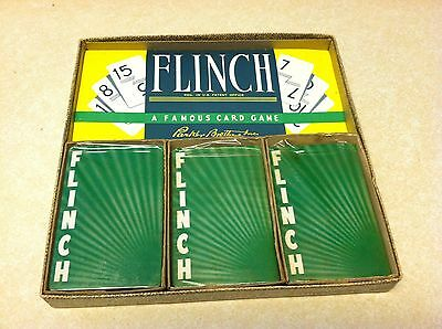Vintage Flinch Card Game Parker Brothers Unopened New Sealed Cards