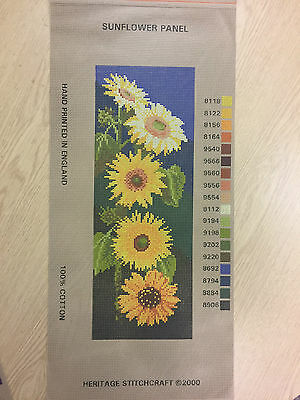 Needlepoint Tapestry Printed Canvas Only - Heritage Collection - Sunflower Panel