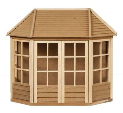 Melody Jane Dolls House DAMAGED Summer House Garden Shed Wooden 1:12 Scale
