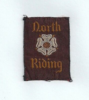 Old English Boy Scout Badge - North Riding County - Yorkshire - Maroon