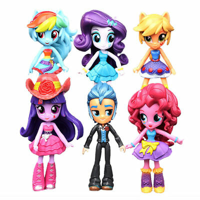 6Pcs My Little Pony Equestria Girls Monster Action Figures Dolls Kids Toys Gift