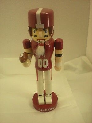 "12.25"" Nutcracker Alabama Crimson Tide Football Player"