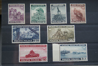 Poland Stamps. 1941 Exiled Government Set. WWII. M/MINT. SCARCE.