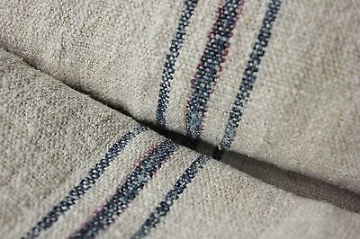 Vintage homespun grainsack fabric grain sack material 7.5YDS WASHED Indigo blue