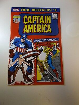 True Believers Kirby 100th Captain America #1 VF/NM condition