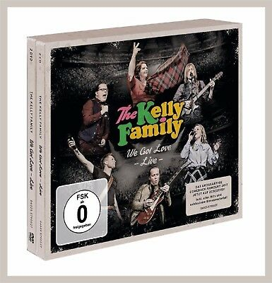 "Kelly Family ""we got love - Live"" 2CD + 2DVD Box NEU Live-Album 2017"