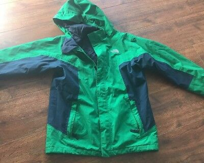The North Face Resolve HyVent Waterproof Rain Jacket Boys Youth Size Large 14-16