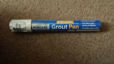 Ronseal One Coat Grout Pen White 15Ml