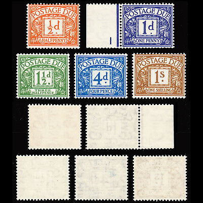 GB KGVI Postage Due 1951-52 set of 5 fine mint never hinged SG D35/D39 CV £75