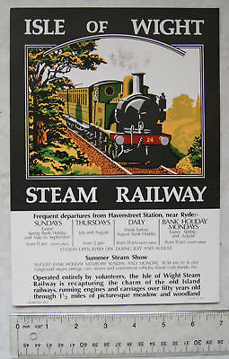 1977 poster The Isle of Wight Steam Railway
