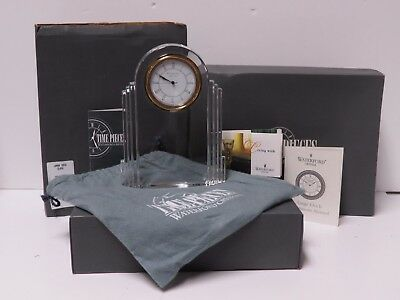 Waterford Large Deco Clock 102053 Made in Germany w/ Original Box & Paperwork!
