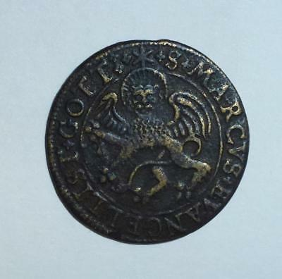 Good grade Medieval jetton (Lion type)