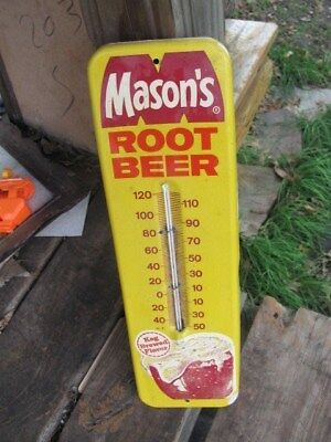 Vintage-Original Mason's Root Beer Advertising Thermometer