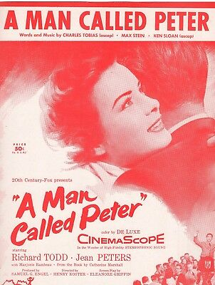 RICHARD TODD & JEAN PETERS sheet music A MAN CALLED PETER (1955)