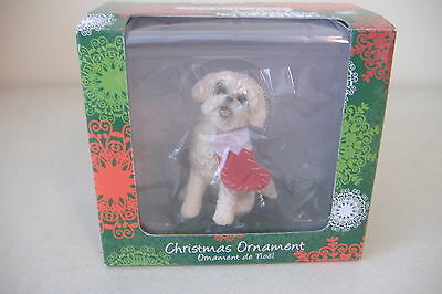 ~Bichon Frise~Sandicast Christmas Ornament~New~