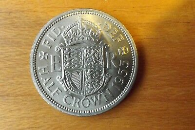 British Halfcrown Coin 1953 UNC Grade Lustrous Very Nice.