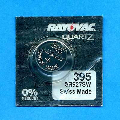 2 x 395 SR927SW SR57 V395 D395 1.55V Silver Oxide Watch Cell Batteries Rayovac