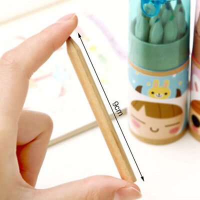 12PCS Painting Stationary Supplies 12 Colors Drawing Writing Wooden Pencils A
