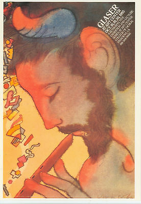 Milton Glaser Poster Art Playing Flute Ny Postcard*