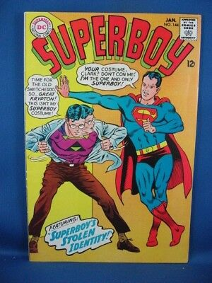 Superboy #144 (Jan 1968, DC) F+