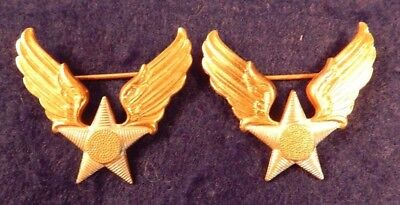 WWII U.S. Army Air Forces, Sweet Heart Pin, Sterling Silver, Pin Back, (2) A+