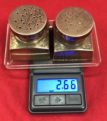Reproduction George Washington Sterling Silver Salt & Pepper Shakers 82.6 grams
