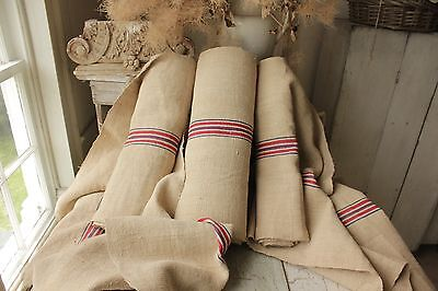 28 YDS Grain sack grainsack upholstery fabric vintage linen organic hemp washed