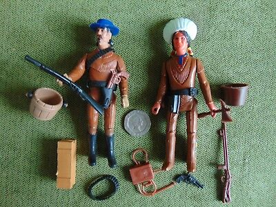 Vintage Legends of the West - BUFFALO BILL & INDIAN Excel Toys Corp  1975