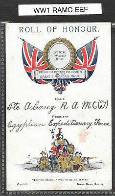 WW1 PC Royal Army Medical Corps Egyptian Expeditionary Force Ex Cond