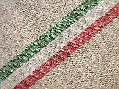 2.5 YARDS bolt of antique homespun linen material ~ lovely for Christmas WASHED