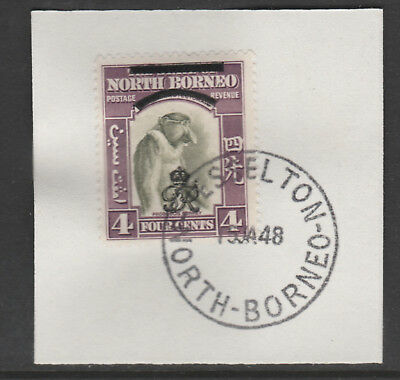 North Borneo 6011 - 1947 KG6 CROWN COLONY 4c with MADAME JOSEPH FORGED POSTMARK