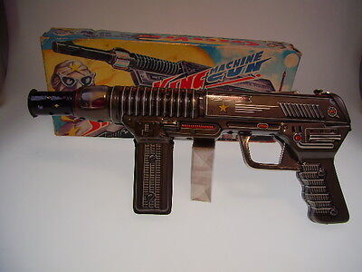 "GSR ROBOT ""SPACE KING MACHINE GUN"", EXELO JAPAN, ALL TIN, 30cm, LIKE NEWnBOX !"