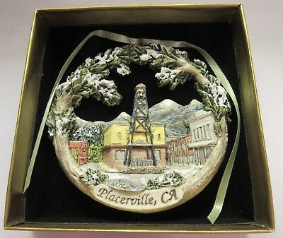 Placerville, CA Bell Tower Downtown Christmas Ornament Hestia NIB