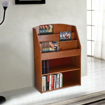 Wood Bookshelf Book Rack Storage Organizer Display Bookcase Shelving Home Decor