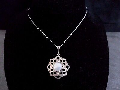 Rare Arts & Crafts William Hair Haseler Silver & Pearl Celtic Revival Pendant