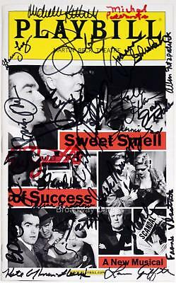 Cast John Lithgow, Kelli O'Hara signed SWEET SMELL OF SUCCESS Opening Playbill