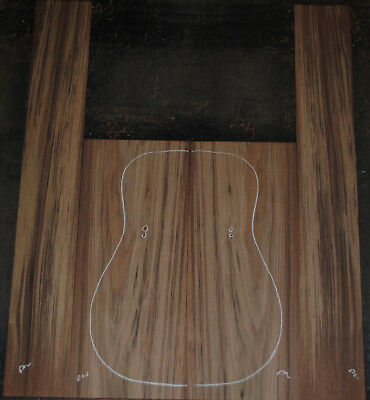 Figured Peruvian Walnut back and side set Luthier Tonewood