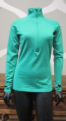 NIKE PRO Womens Medium Dri Fit Hyperwarm Half 1/2 Zip Pullover Training Top