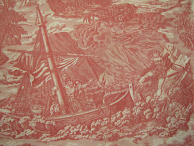 Antique French Toile William Tell  ~ fabric material ~ historical ~c1815