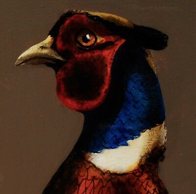 PHEASANT : ORIGINAL OIL PAINTING :  Shooting Game Bird Art by David Andrews