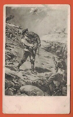 Postcard Russia,Japan War, Russian Rescues Japanese Soldier