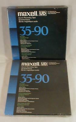 Lot Of 2 Maxell UD Sealed Blank Reel To Reel Tapes Vintage For Recorder Japan