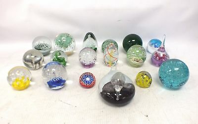 Collection of 18 Art Glass PAPERWEIGHTS Various Designs - B86