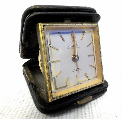 Vintage LOOPING 15 Jewel Lever 8 Day Antimagnetic TRAVEL CLOCK - E15