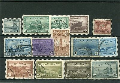 Canada. 14 -- 1942/6  Used Stamps On Stockcard