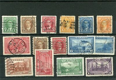 Canada. 15 -- 1937   Used Stamps On Stockcard