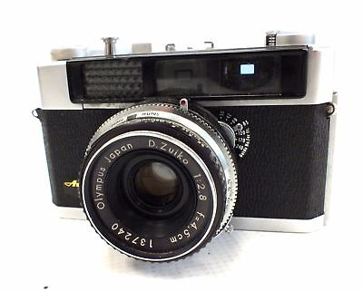 OLYMPUS Auto Eye Rangefinder Camera f/2.8 45mm Zuiko Lens & Pre-Vu Button - F18