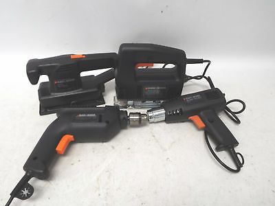 Set Of 4 BLACK AND DECKER Power Tools Drill BD562 Sander Heat Tool Jigsaw  - W57