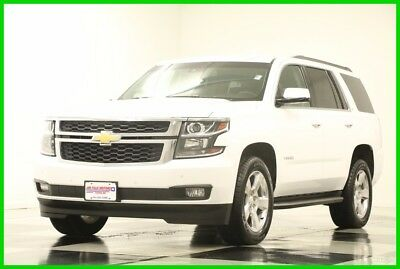 2015 Chevrolet Tahoe 4X4 GPS Leather Summit White 4WD Like New Used Heated Black Seats Navigation Bluetooth Remote Start 16 17 2017 15
